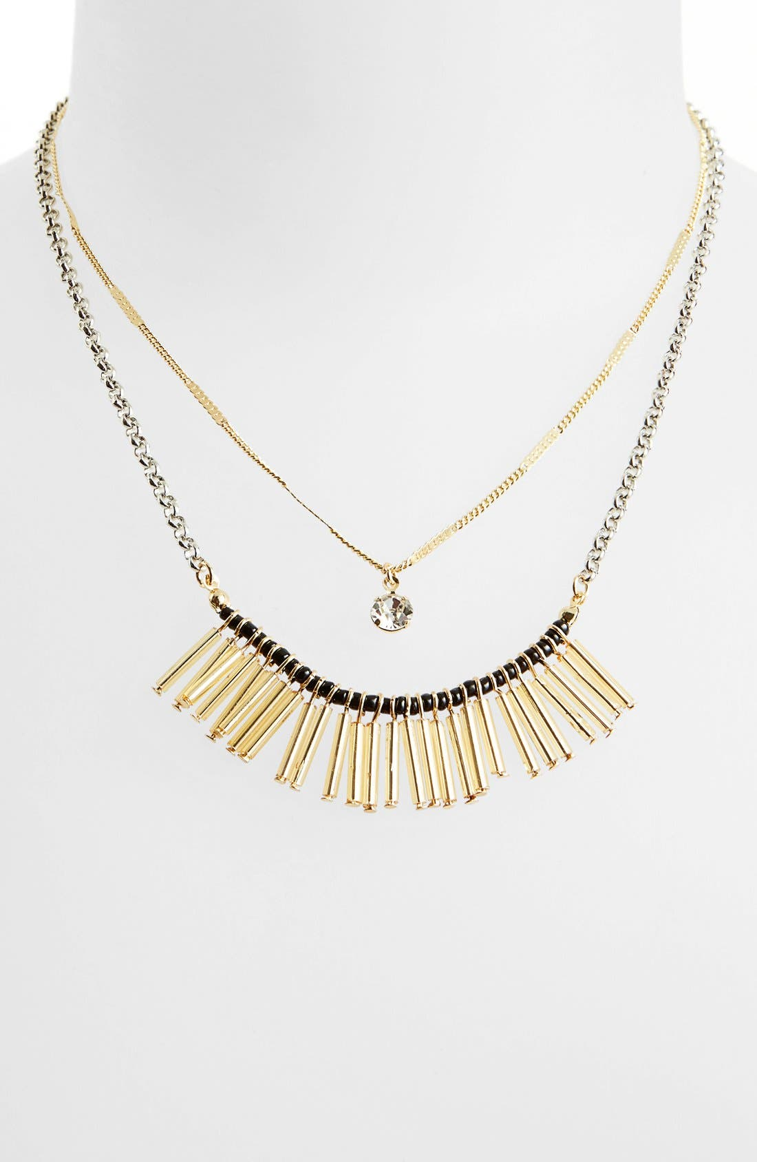Main Image - Topshop Spike Layered Necklace