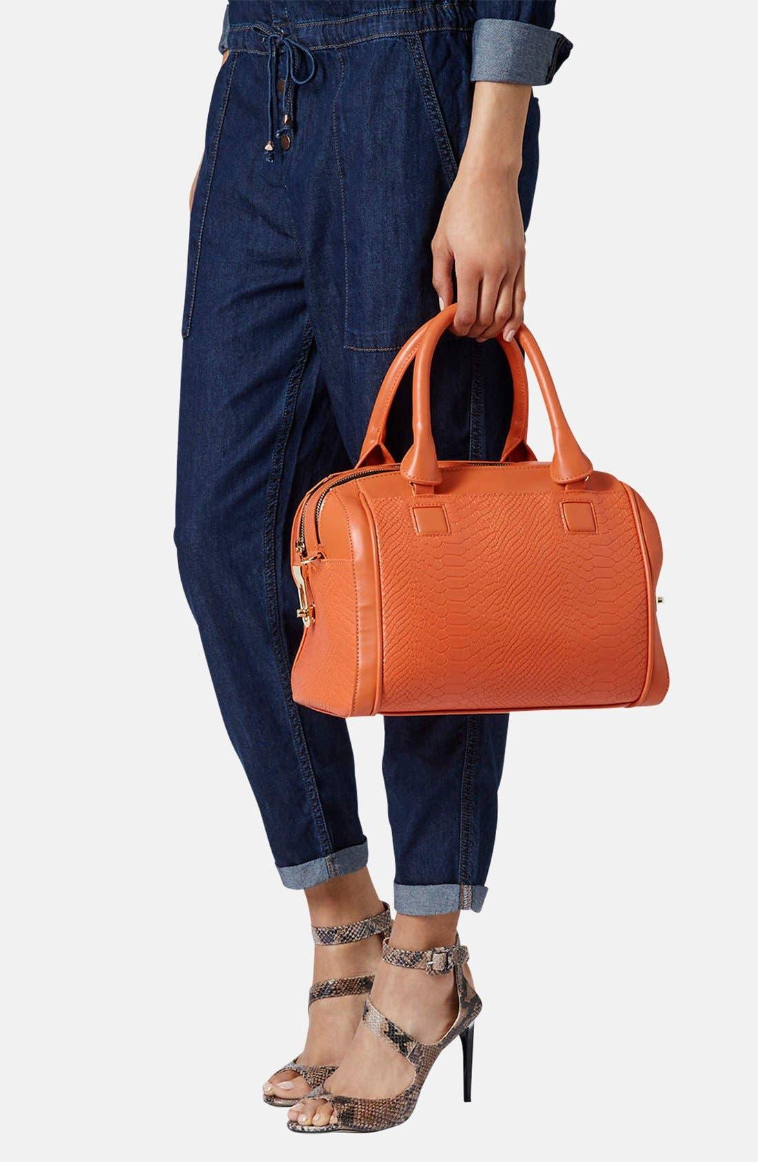 Alternate Image 2  - Topshop Double Zip Faux Leather Bag