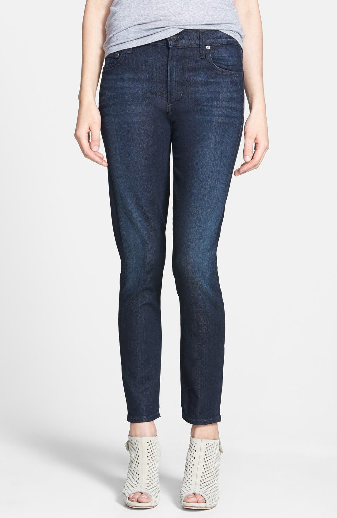 Alternate Image 1 Selected - Citizens of Humanity 'Rocket' Crop Skinny Jeans (Space)