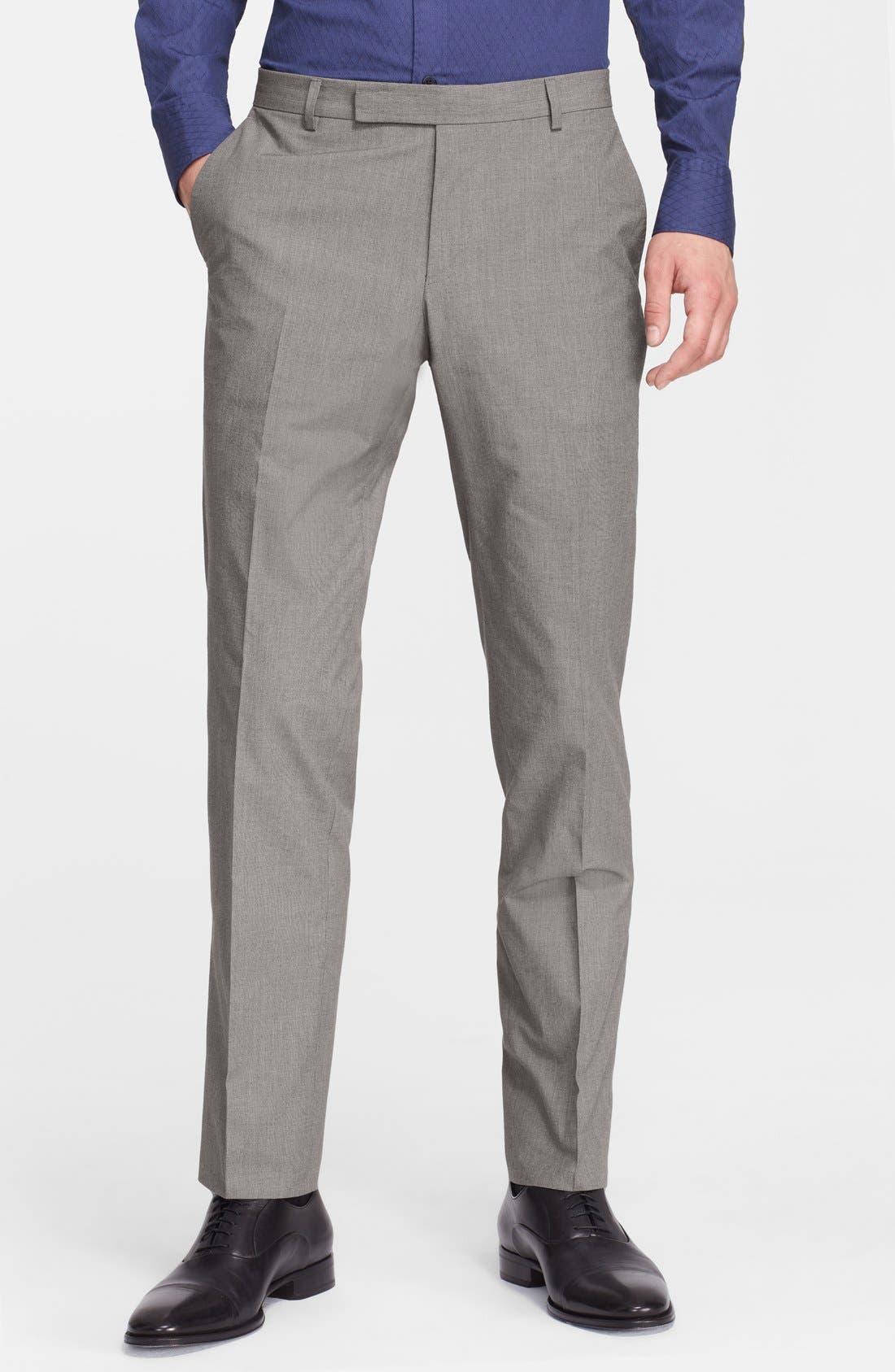 Alternate Image 4  - Z Zegna Extra Trim Fit Grey Cotton Suit