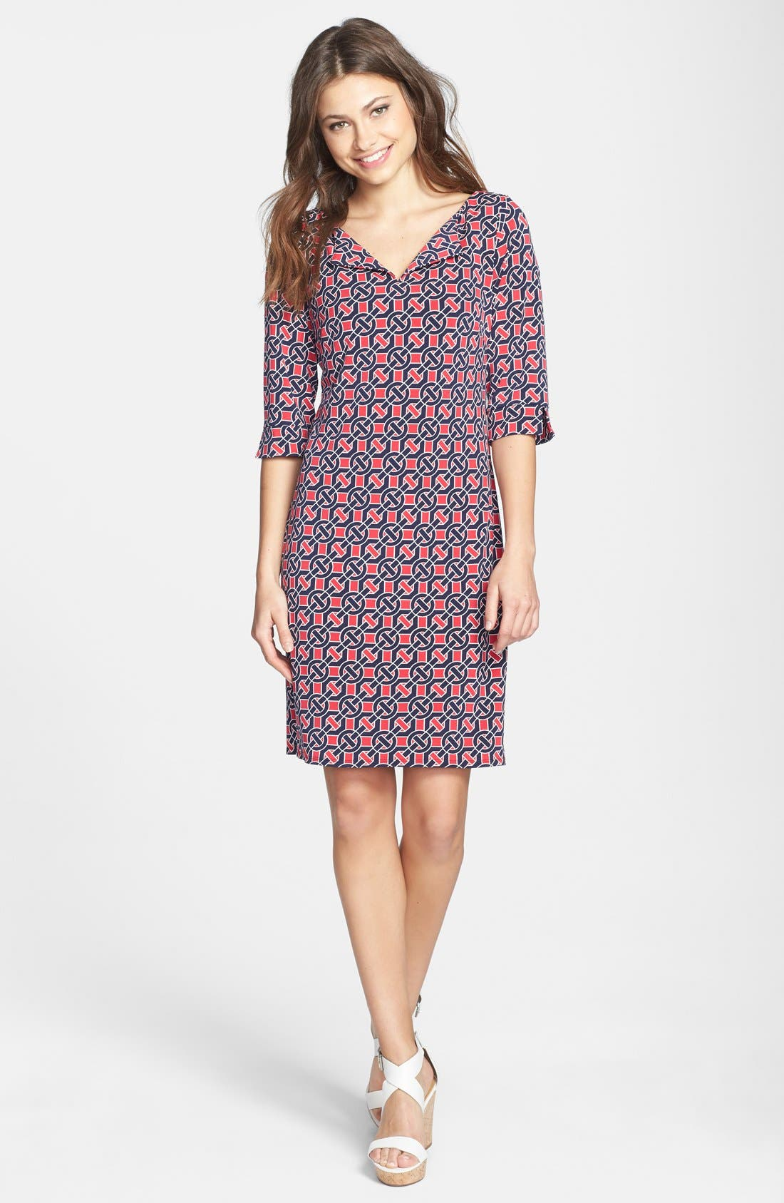 Alternate Image 1 Selected - Laundry by Shelli Segal Print Jersey Shift Dress