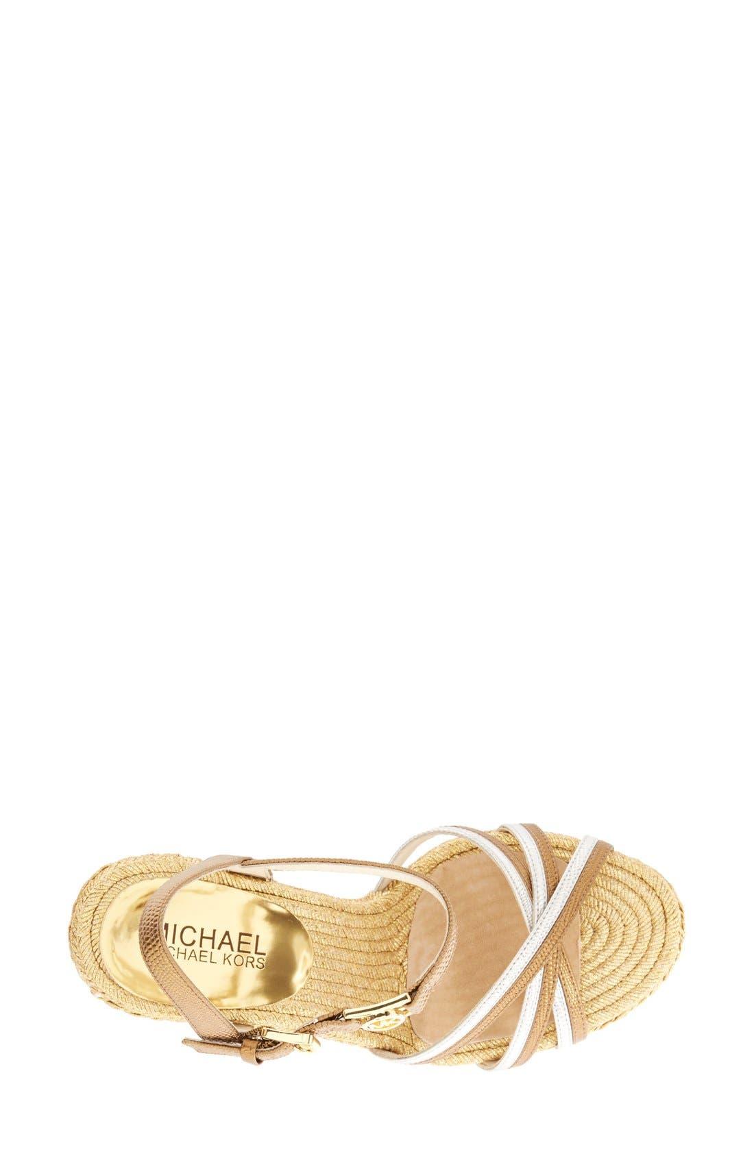 Alternate Image 3  - MICHAEL Michael Kors 'Cicely' Quarter Strap Sandal