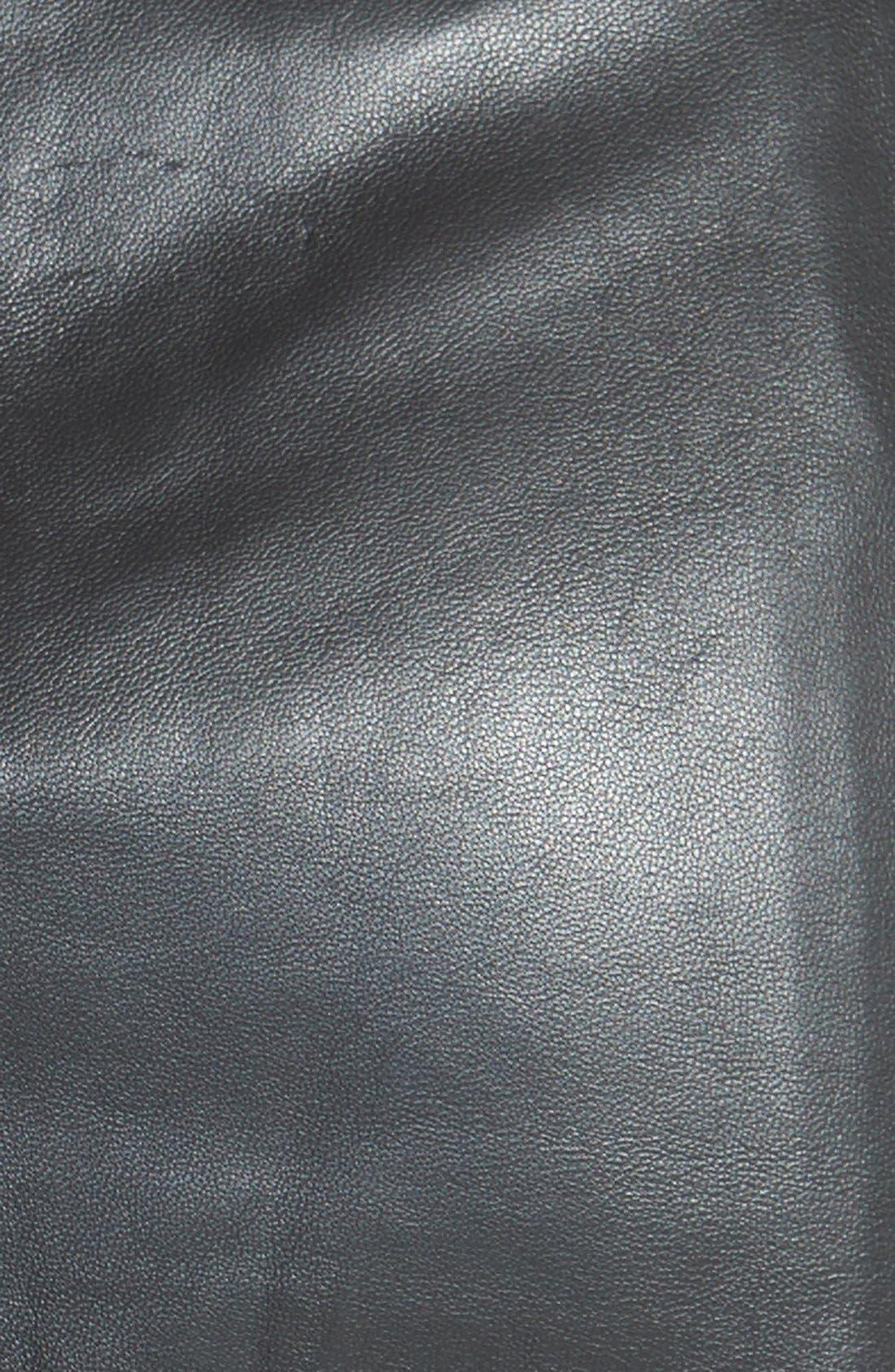 Alternate Image 3  - Halogen® Leather Panel Pencil Skirt (Online Only)