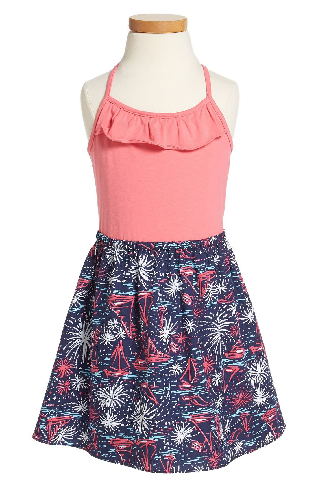Alternate Image 1 Selected - Lilly Pulitzer® 'Dory' Glow-in-the-Dark Print Fit & Flare Sundress (Little Girls & Big Girls)