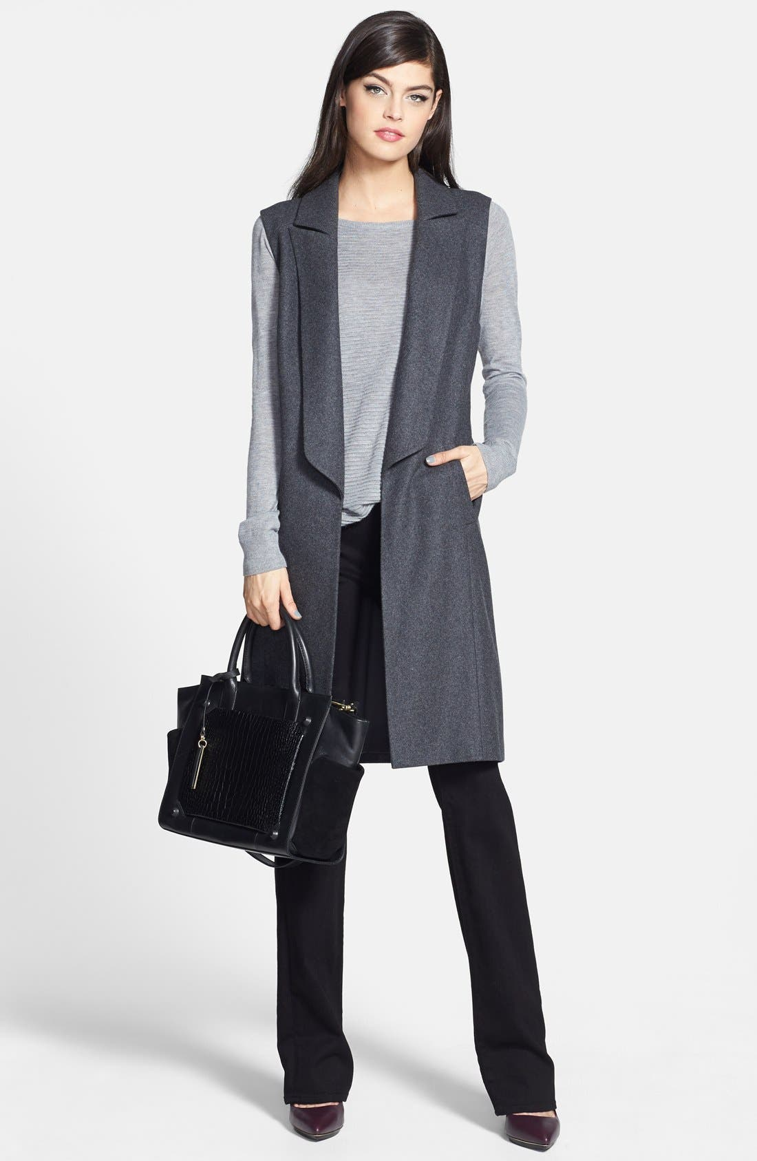 Alternate Image 4  - Trouvé Sleeveless Wool Blend Jacket