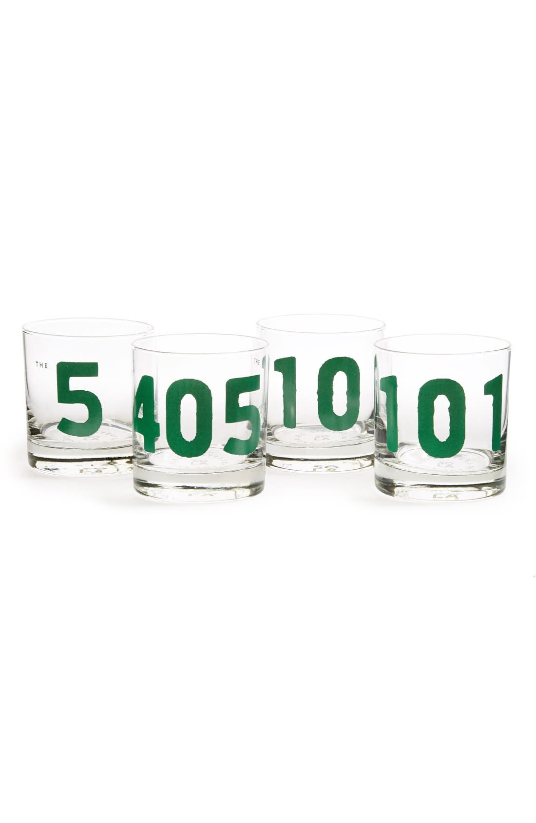 Main Image - Sisters of Los Angeles 'LA' Double Old-Fashioned Glasses (Set of 4)
