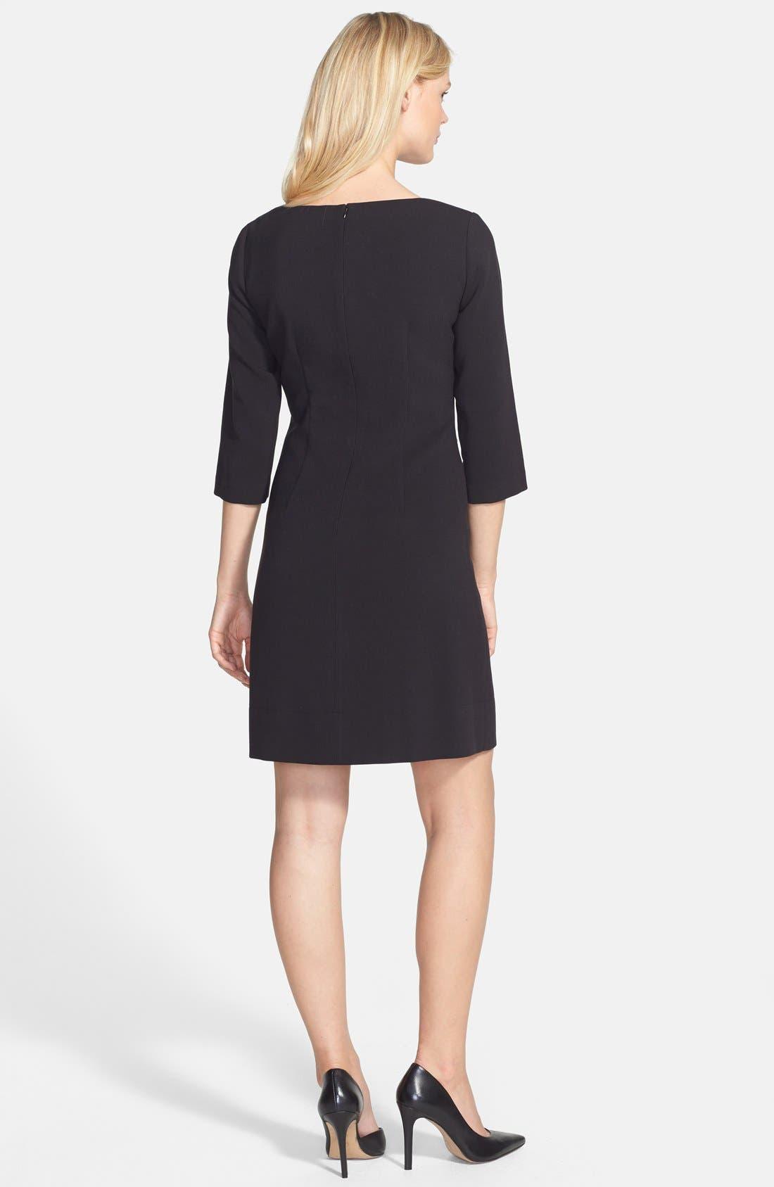 Alternate Image 2  - Eliza J Knit Shift Dress (Regular & Petite)