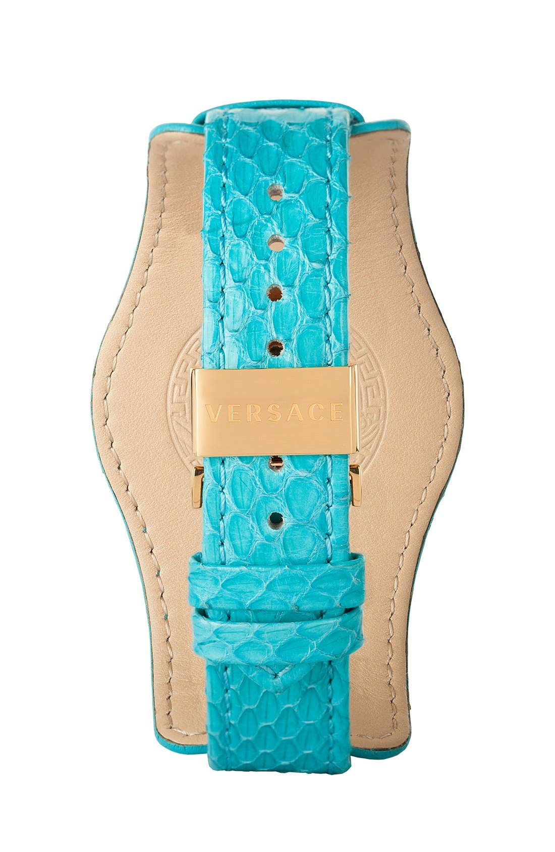 Alternate Image 2  - Versace 'V-Signature' Convertible Leather Strap Watch, 35mm