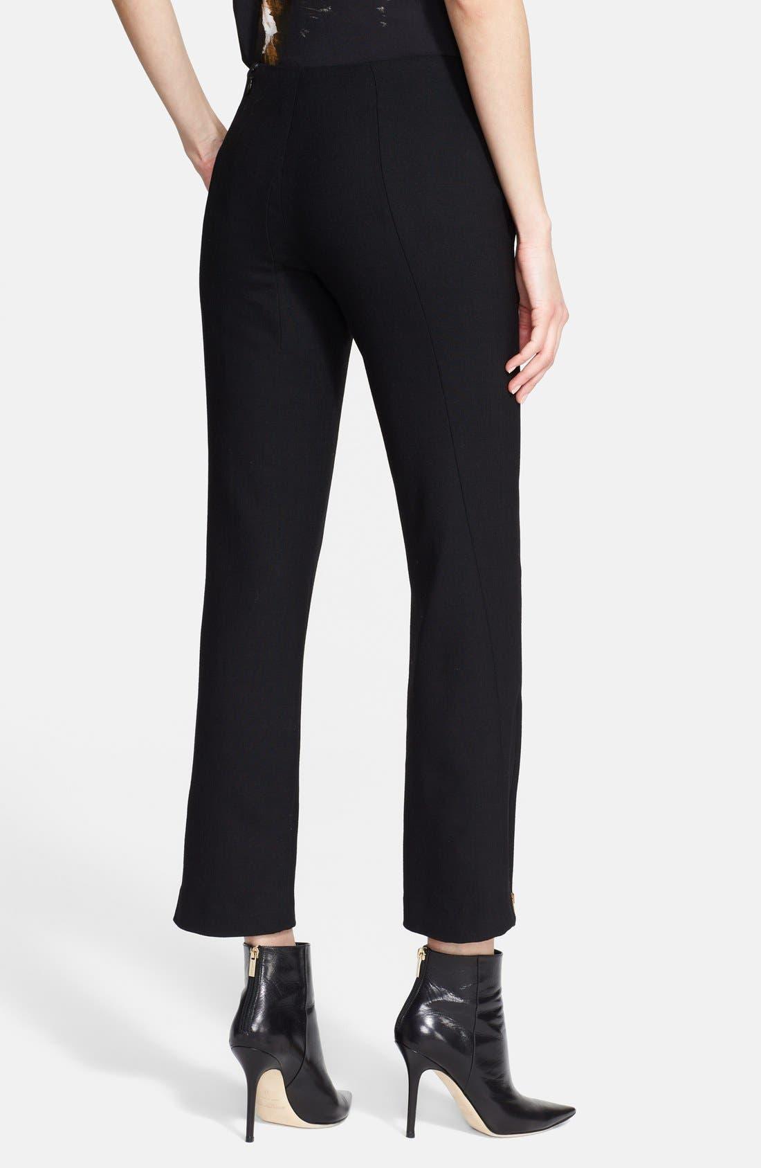 Alternate Image 2  - Donna Karan Collection Zip Detail Crop Trousers
