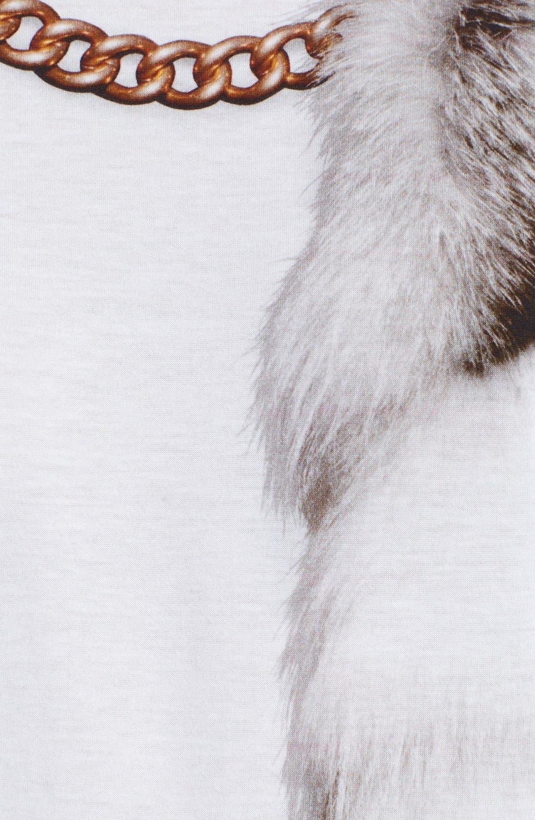 Alternate Image 3  - Alexander McQueen Fox Tail Print Cotton Tee