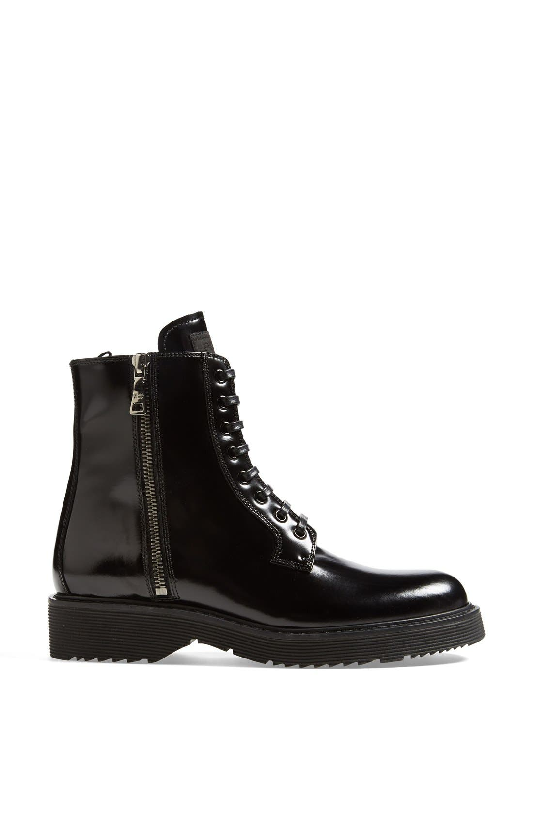 Alternate Image 4  - Prada Lace-Up Short Boot (Women)