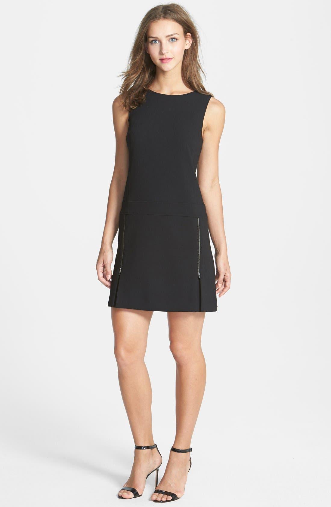 Alternate Image 1 Selected - Halogen® 'Carbon' Zip Detail Crepe Dress