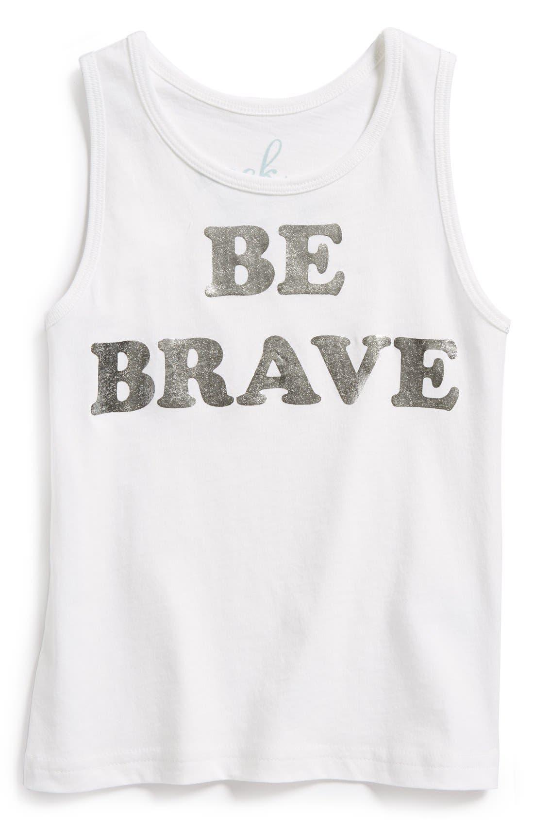 Alternate Image 1 Selected - Peek 'Be Brave' Cotton Tank (Baby Girls)