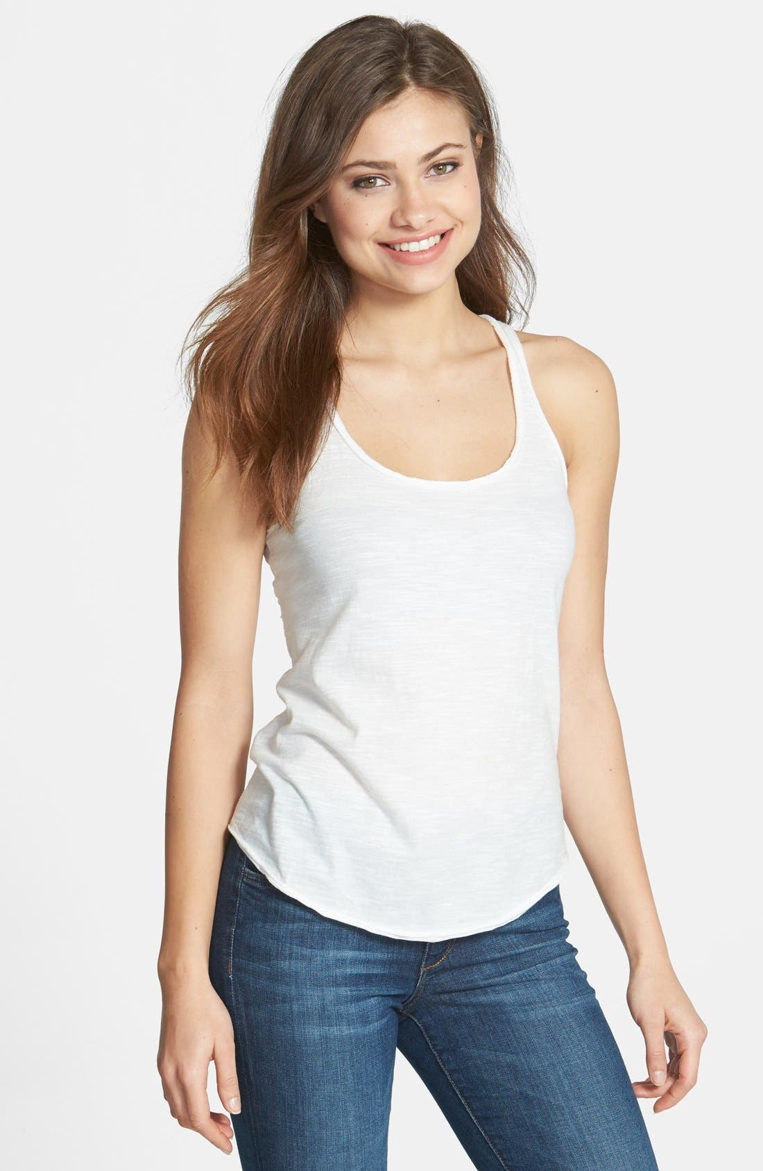 Main Image - Two by Vince Camuto Eyelet Detail Racerback Tank