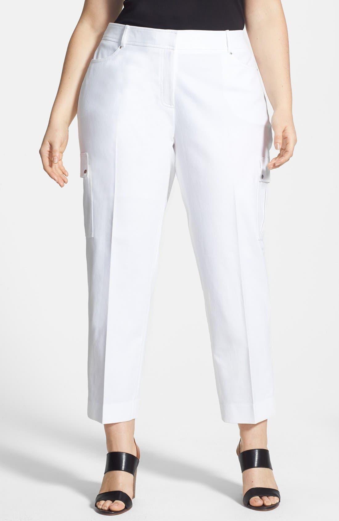 Main Image - Anne Klein Cargo Capri Pants (Plus Size)