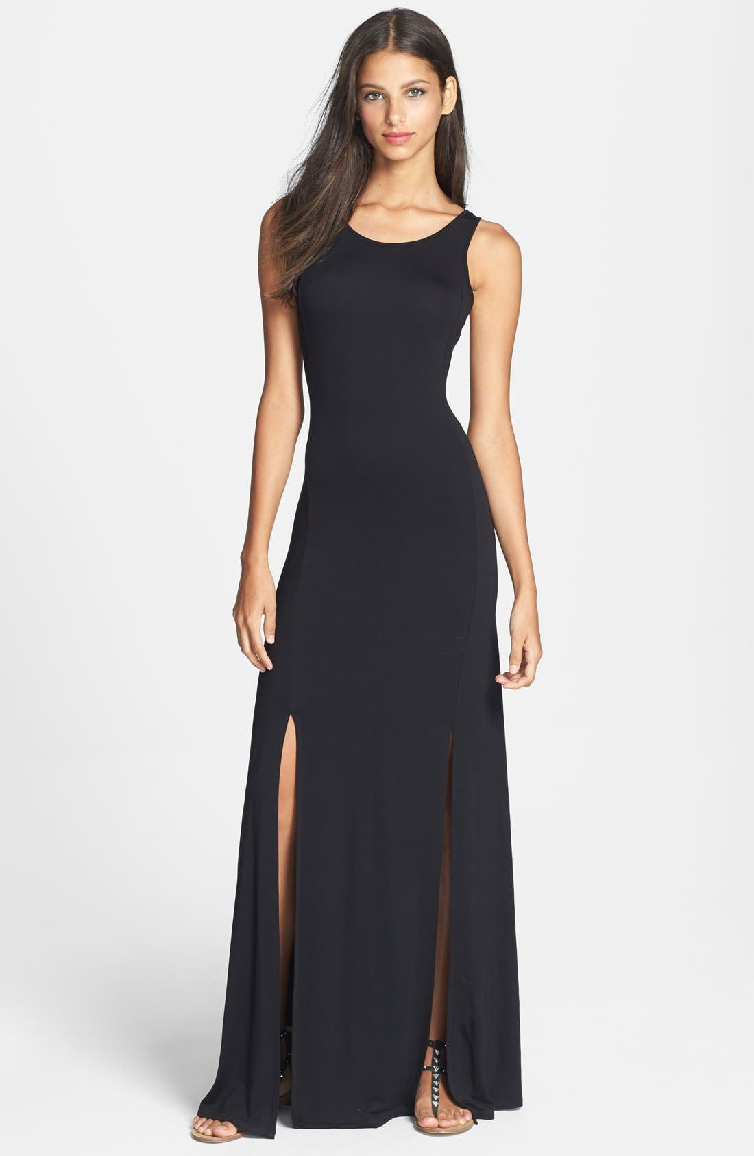 Main Image - Felicity & Coco Back Cutout Detail Jersey Maxi Dress (Nordstrom Exclusive)