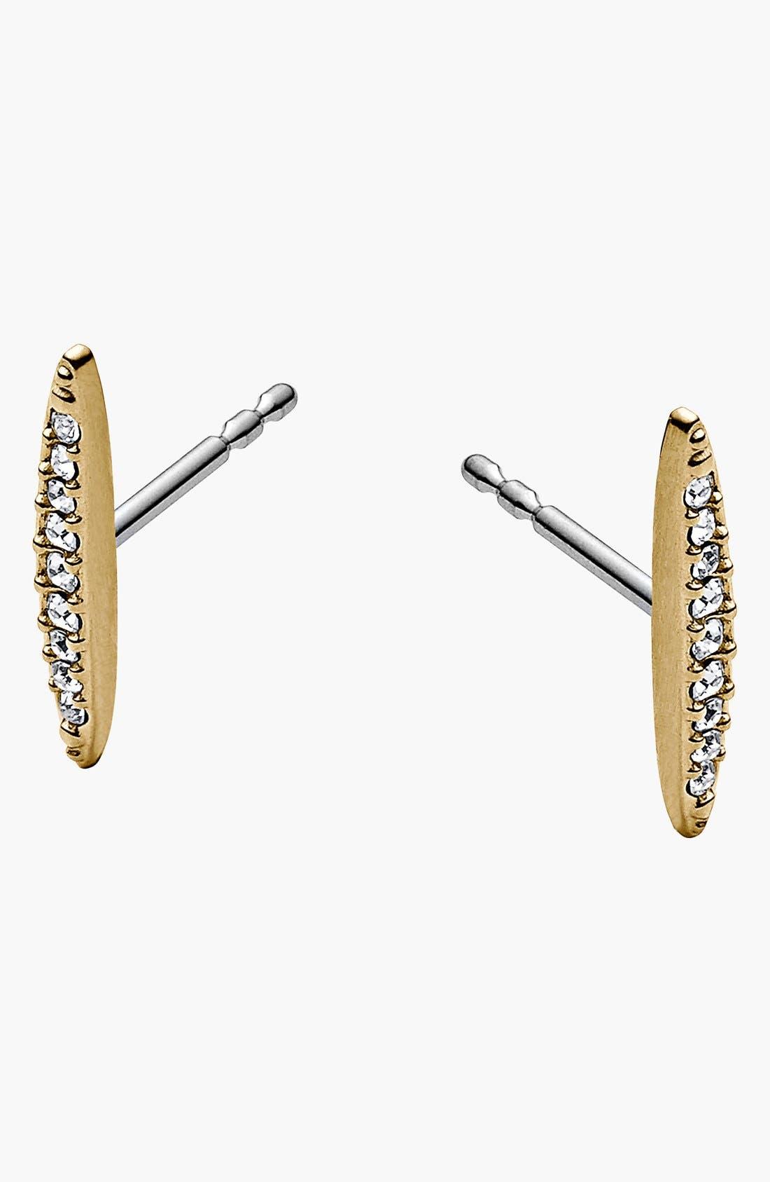 Alternate Image 1 Selected - Michael Kors 'Matchstick' Pavé Stud Earrings