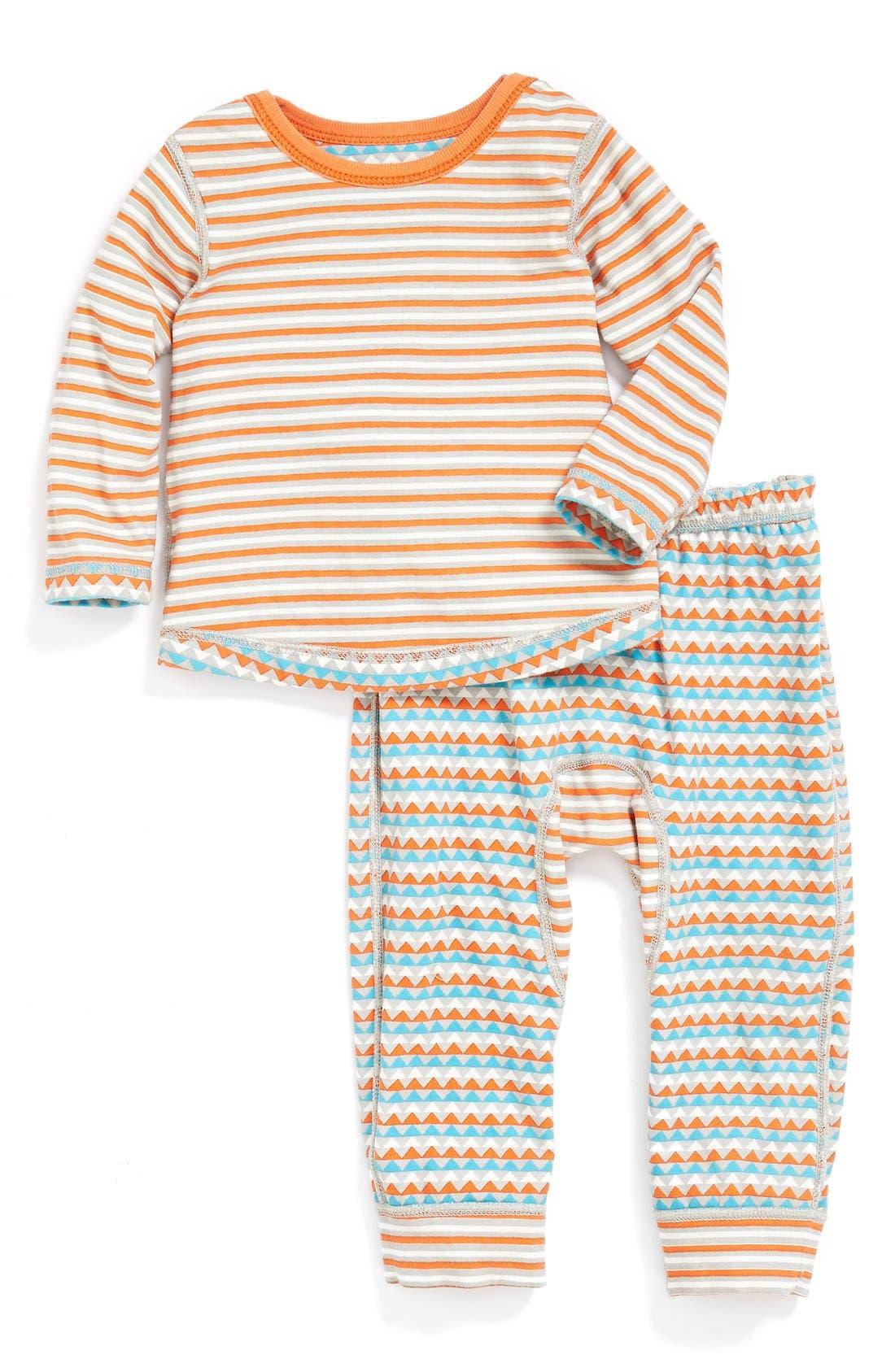 Alternate Image 2  - Stem Baby Reversible Organic Cotton T-Shirt & Pants (Baby Boys) (Nordstrom Exclusive)