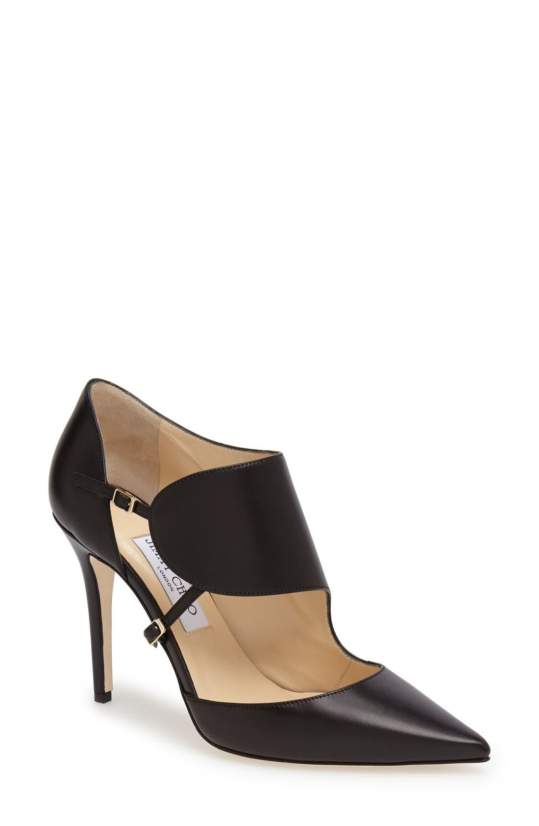 Alternate Image 1 Selected - Jimmy Choo 'Heath' Pointy Toe Leather Pump (Women)