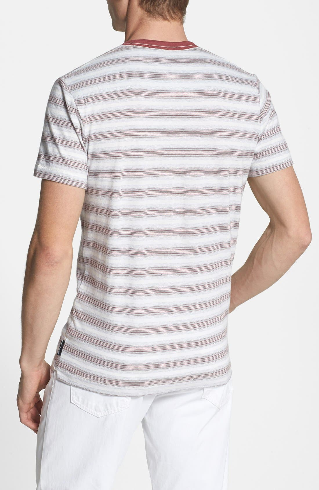 Alternate Image 2  - French Connection 'Jeffrey's Stripe' Trim Fit Henley (Online Only)