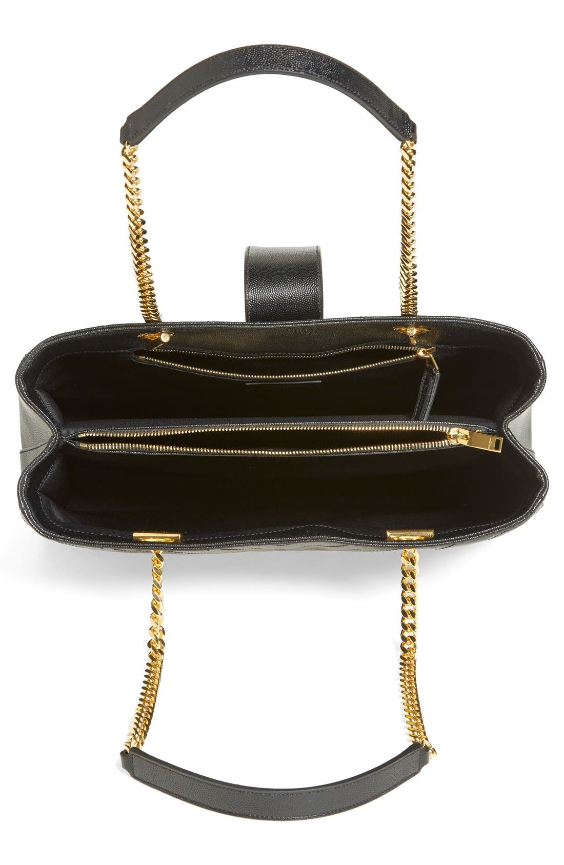 Alternate Image 4  - Saint Laurent 'Monogram' Leather Shopper