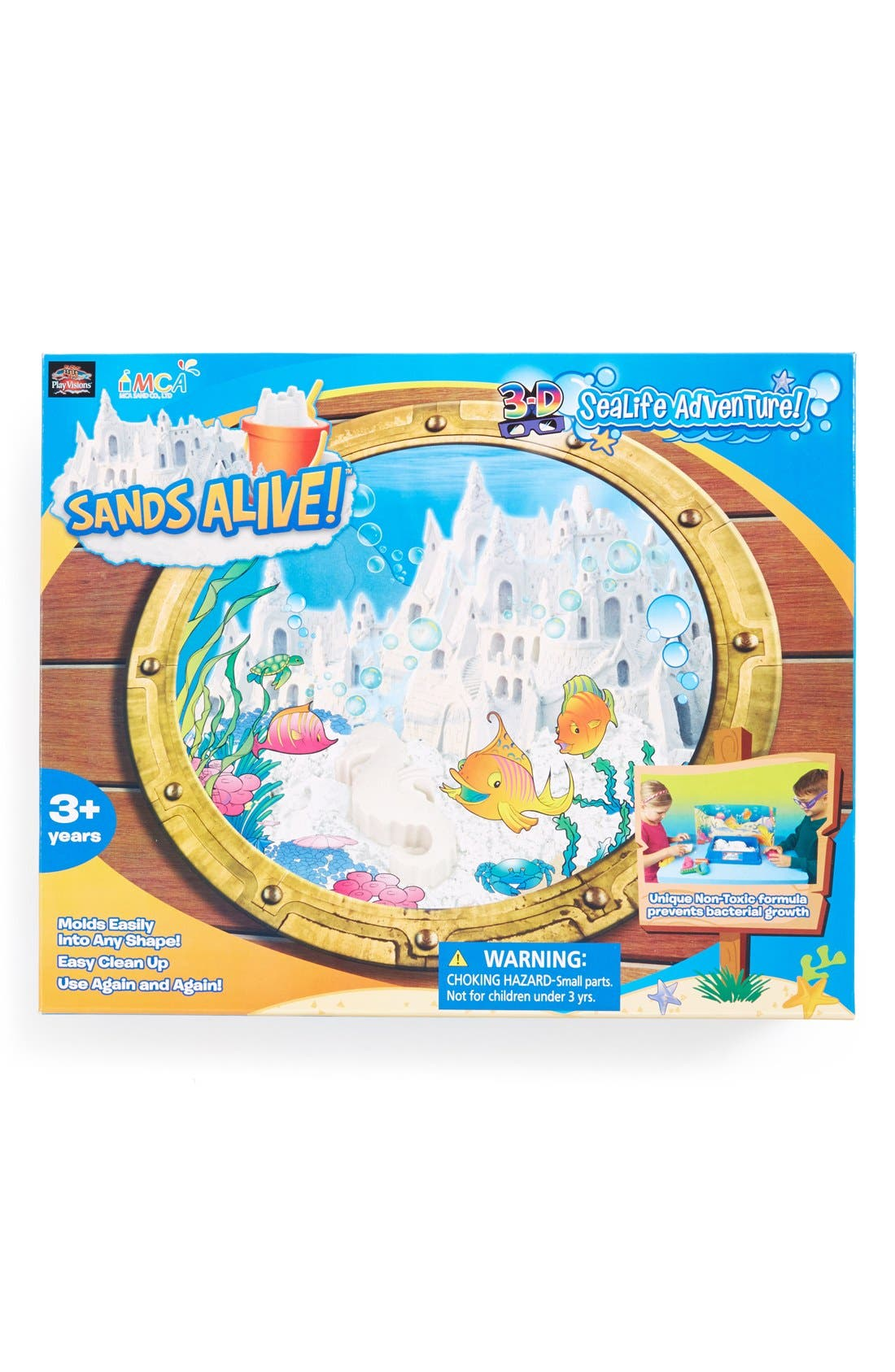 Alternate Image 1 Selected - Play Visions Toys 'Sands Alive! 3D Sea Life Adventure' Indoor Play Sand Kit