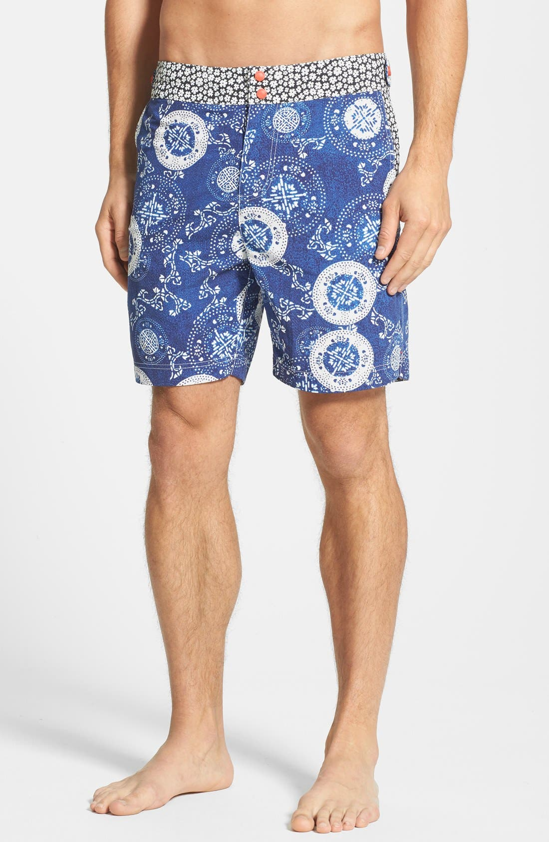 Main Image - Robert Graham 'Parrot' Print Board Shorts