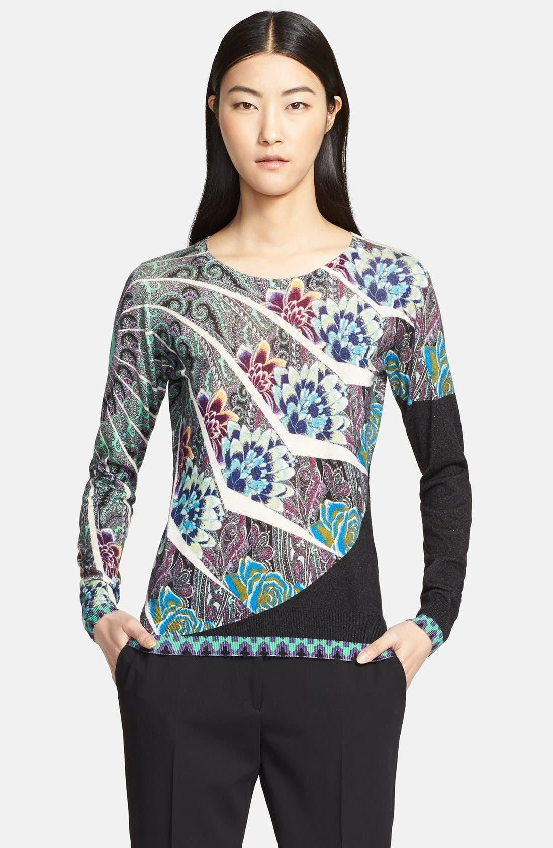 Alternate Image 4  - Etro Floral Mandala Print Silk & Cashmere Top