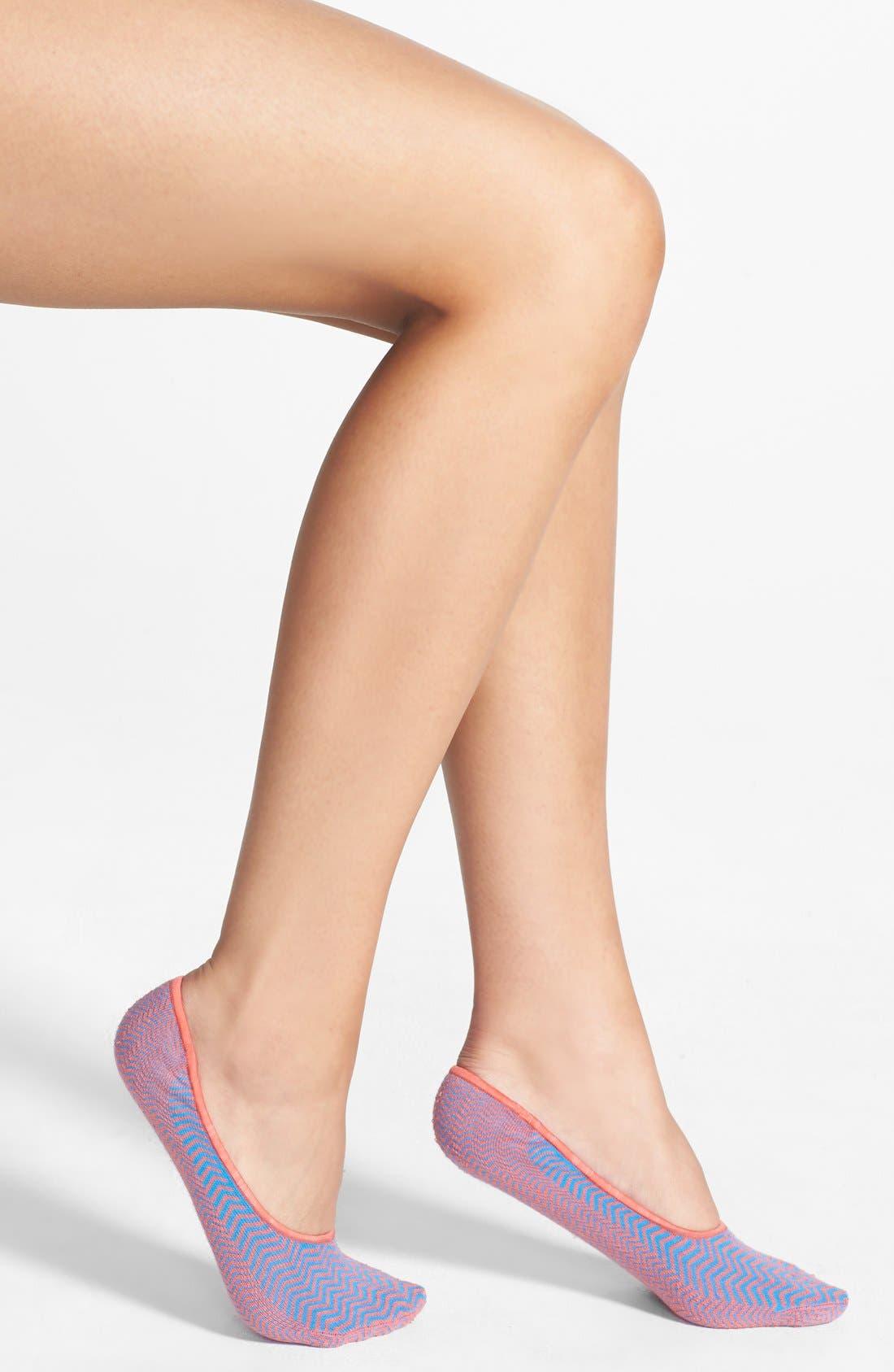 Main Image - Nordstrom Patterned Cotton Blend Footie Socks