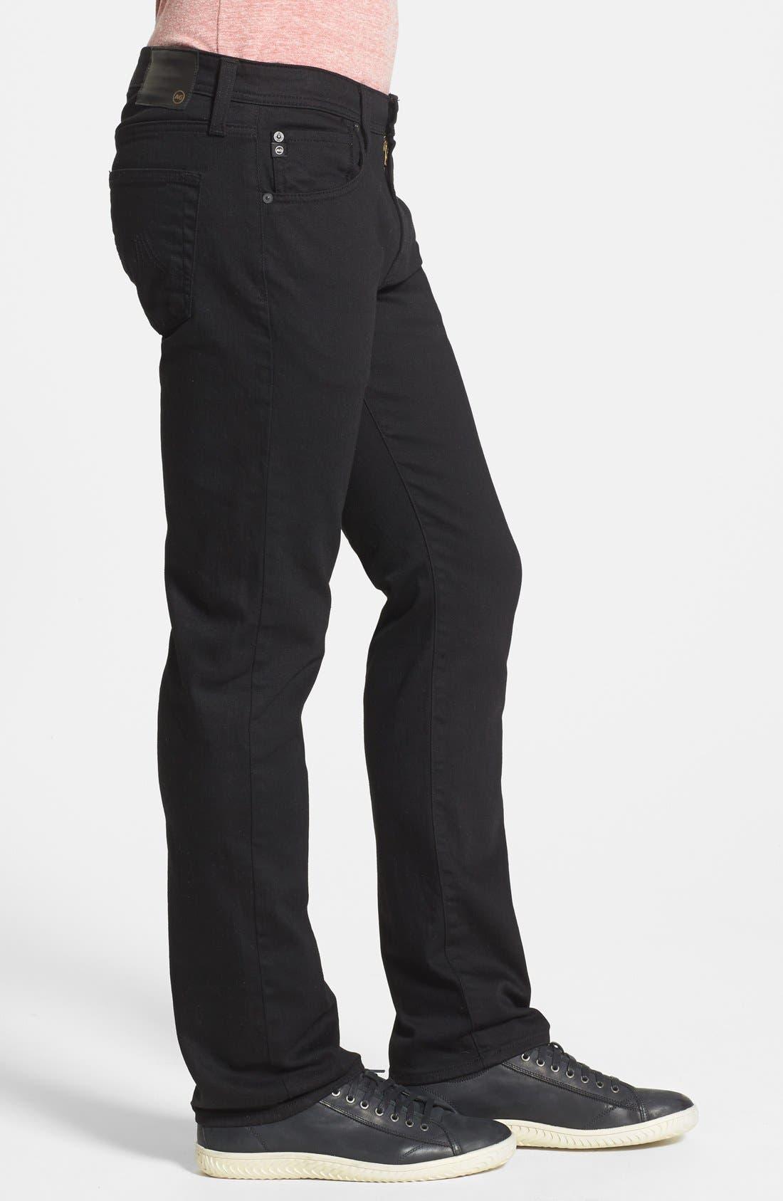 Alternate Image 3  - AG 'Matchbox' Slim Fit Jeans (Blackheart)