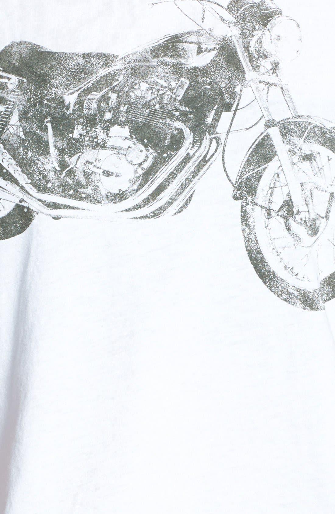 Alternate Image 3  - Recycled Karma Motorcycle Graphic Tee (Juniors)