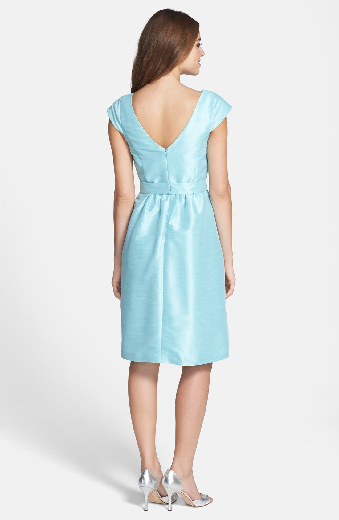 Alternate Image 2  - Alfred Sung Woven Fit & Flare Dress