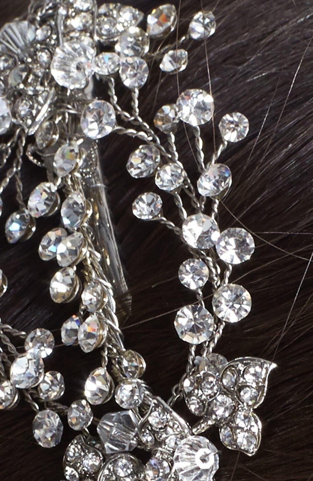 Alternate Image 2  - Wedding Belles New York 'Endure' Czech Crystal Clip