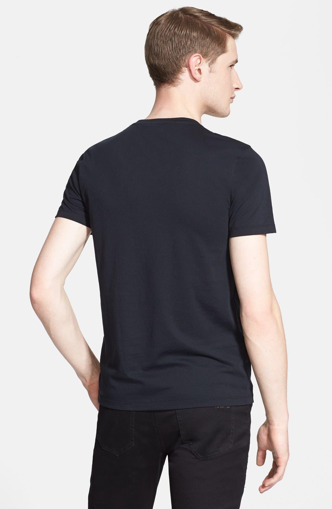 Alternate Image 2  - Versace Collection Metallic Medusa Logo T-Shirt