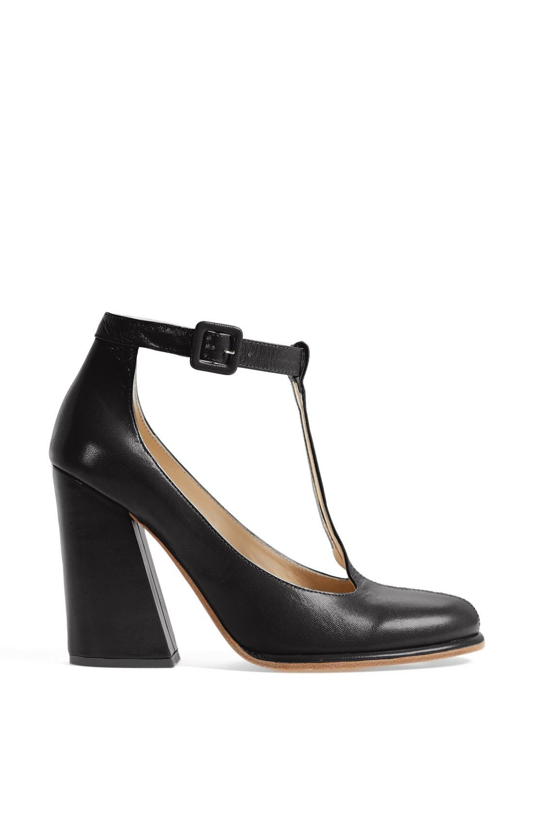 Alternate Image 4  - See by Chloé 'Aggie' T-Strap Leather Pump