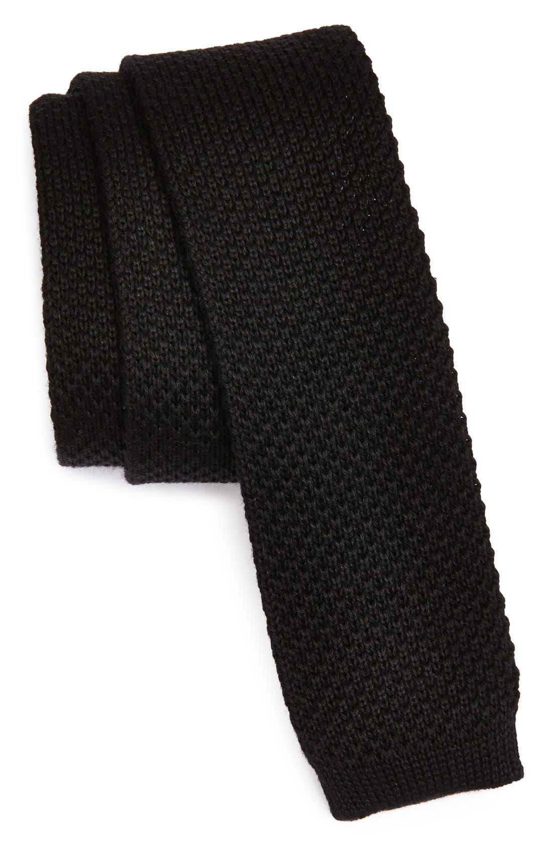 Main Image - BOSS HUGO BOSS Knit Cotton Tie