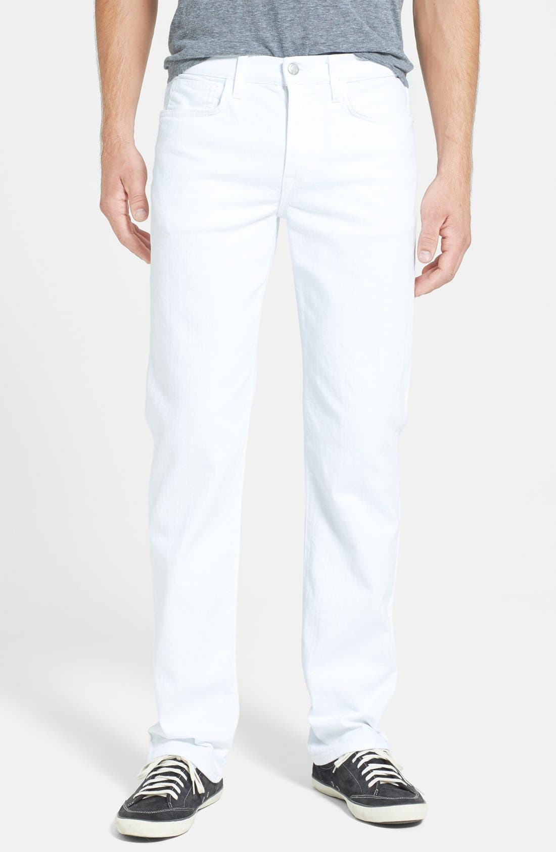 Alternate Image 1 Selected - Joe's 'Classic' Straight Leg Jeans (Optic White)