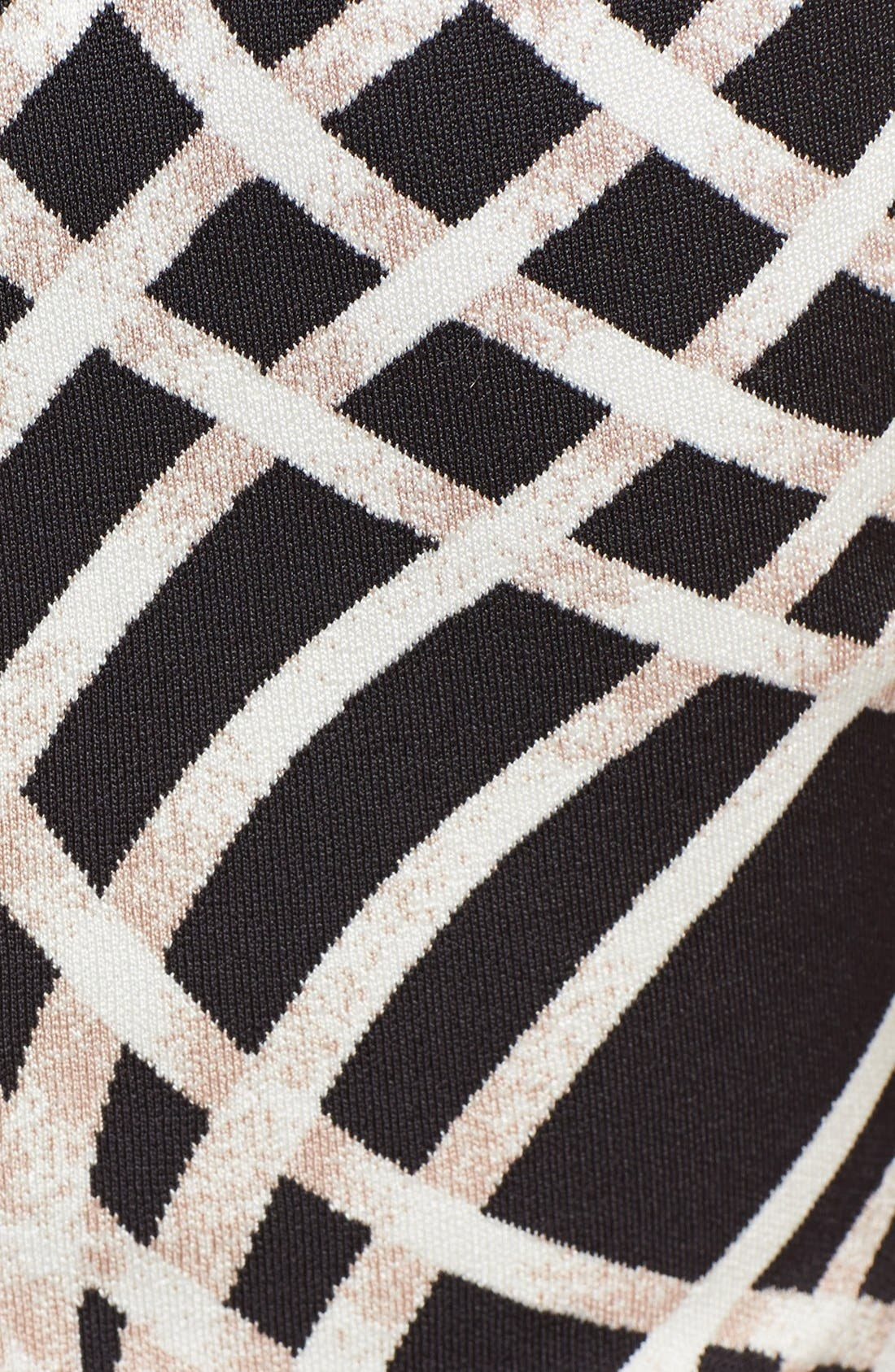 Alternate Image 3  - Herve Leger Contrast Graphic Pattern Fit & Flare Dress