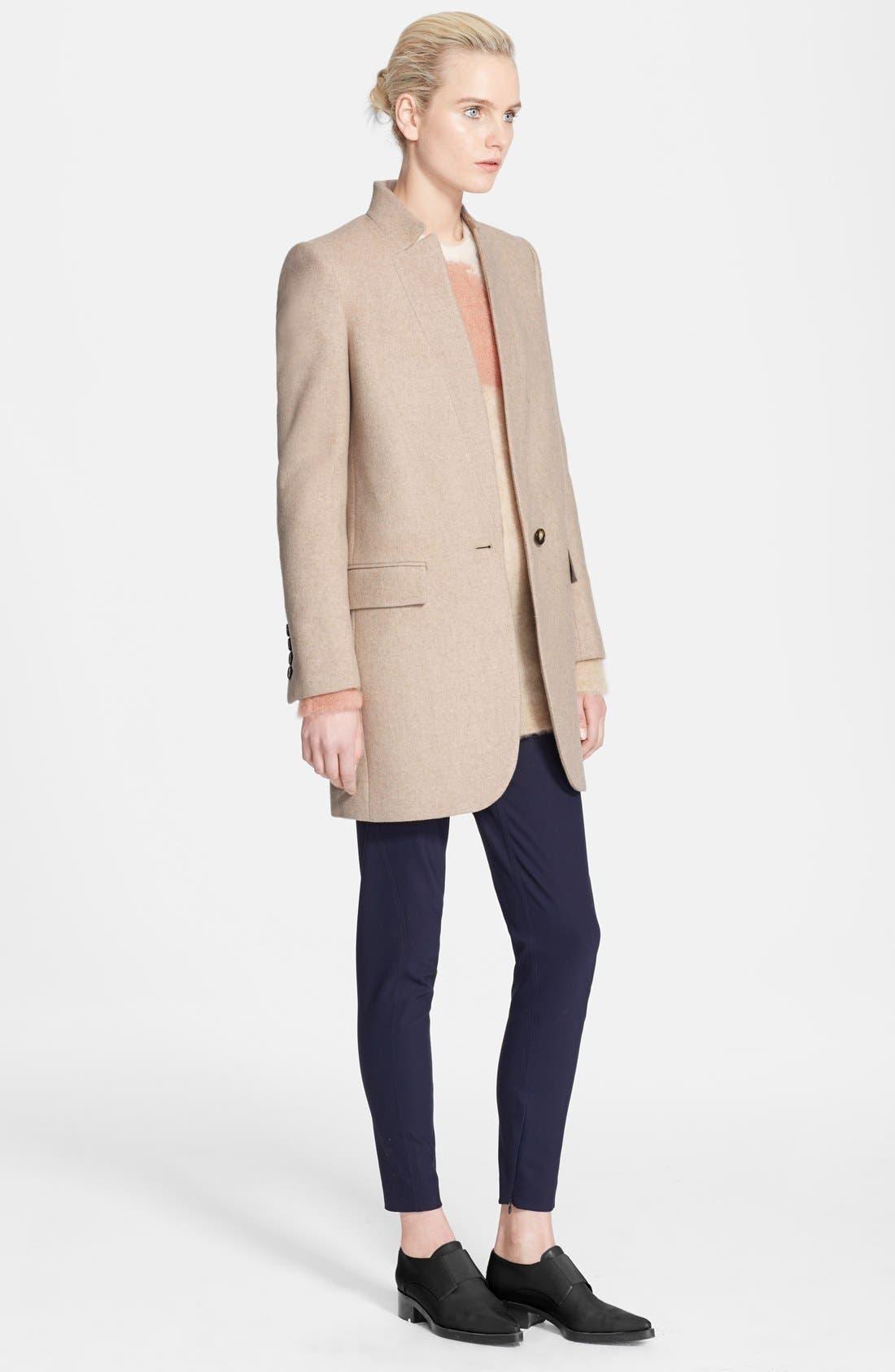 Main Image - Stella McCartney Mélange Melton Wool Blend Coat