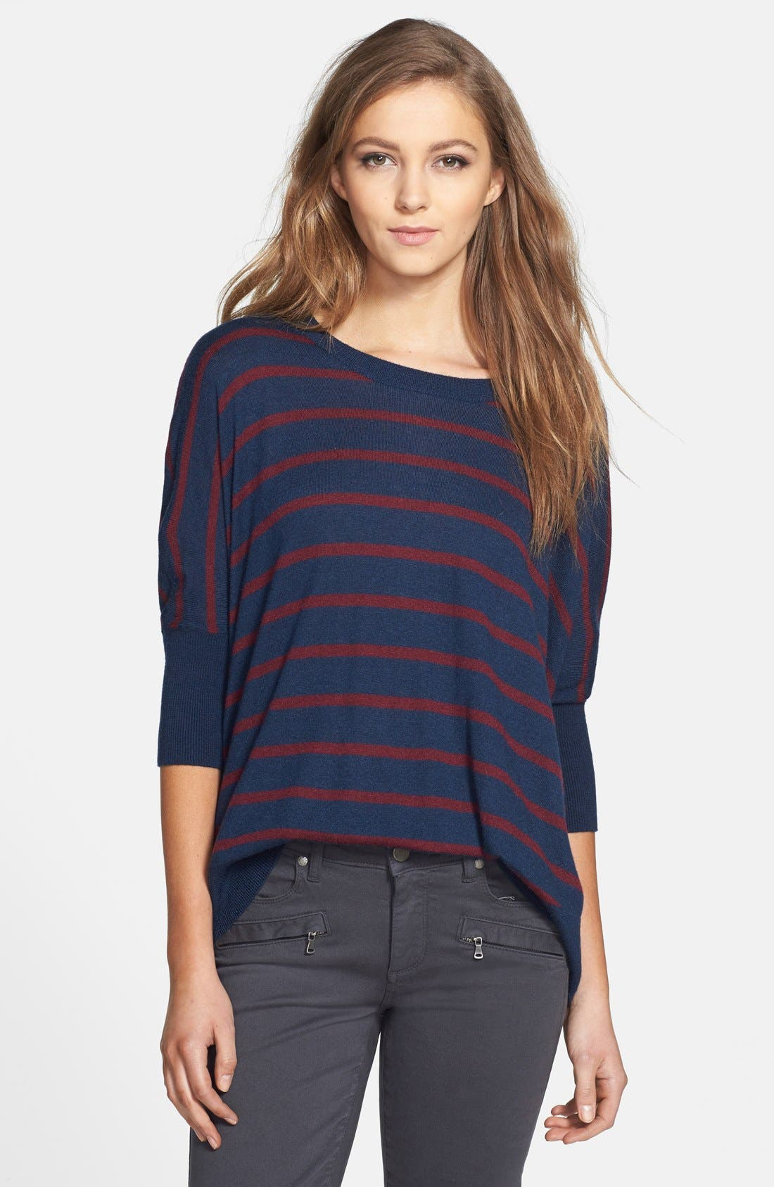 Main Image - Splendid 'Upton' Space Dye Stripe Sweater (Nordstrom Exclusive)