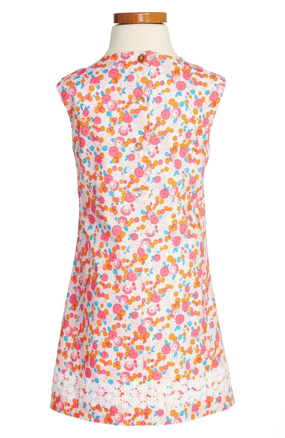 Alternate Image 2  - Oscar de la Renta Floral Dress (Toddler Girls, Little Girls & Big Girls)