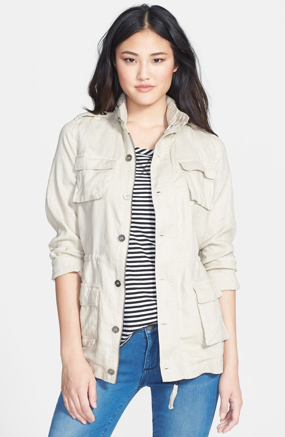 Main Image - Olivia Moon Hooded Cargo Jacket
