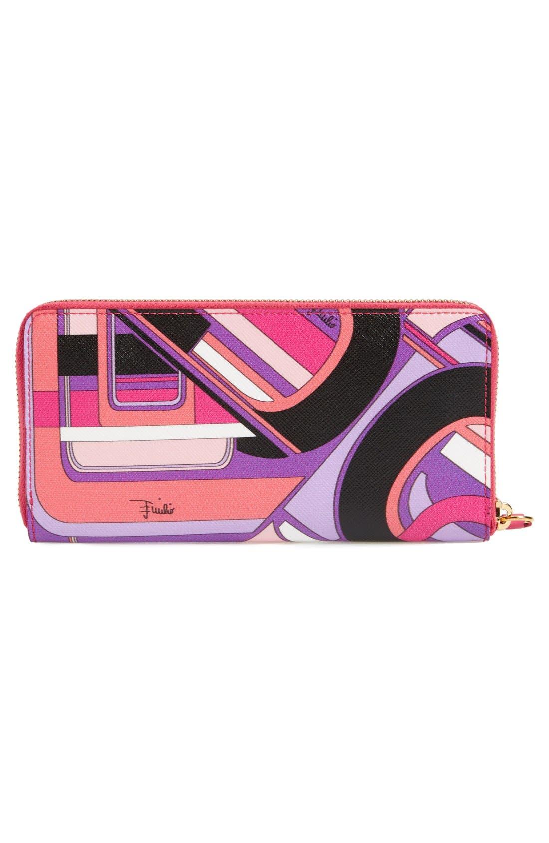 Alternate Image 3  - Emilio Pucci Print Zip Around Wallet