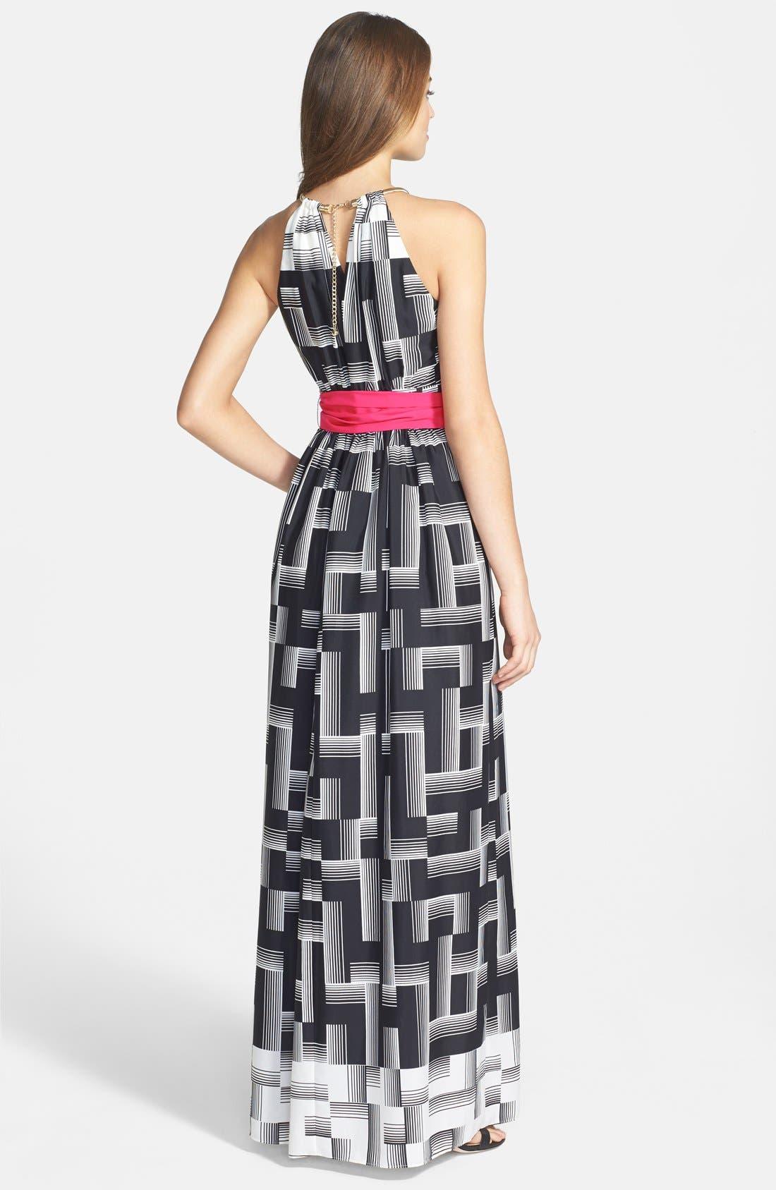 Alternate Image 2  - Eliza J Geo Print Maxi Dress (Regular & Petite)
