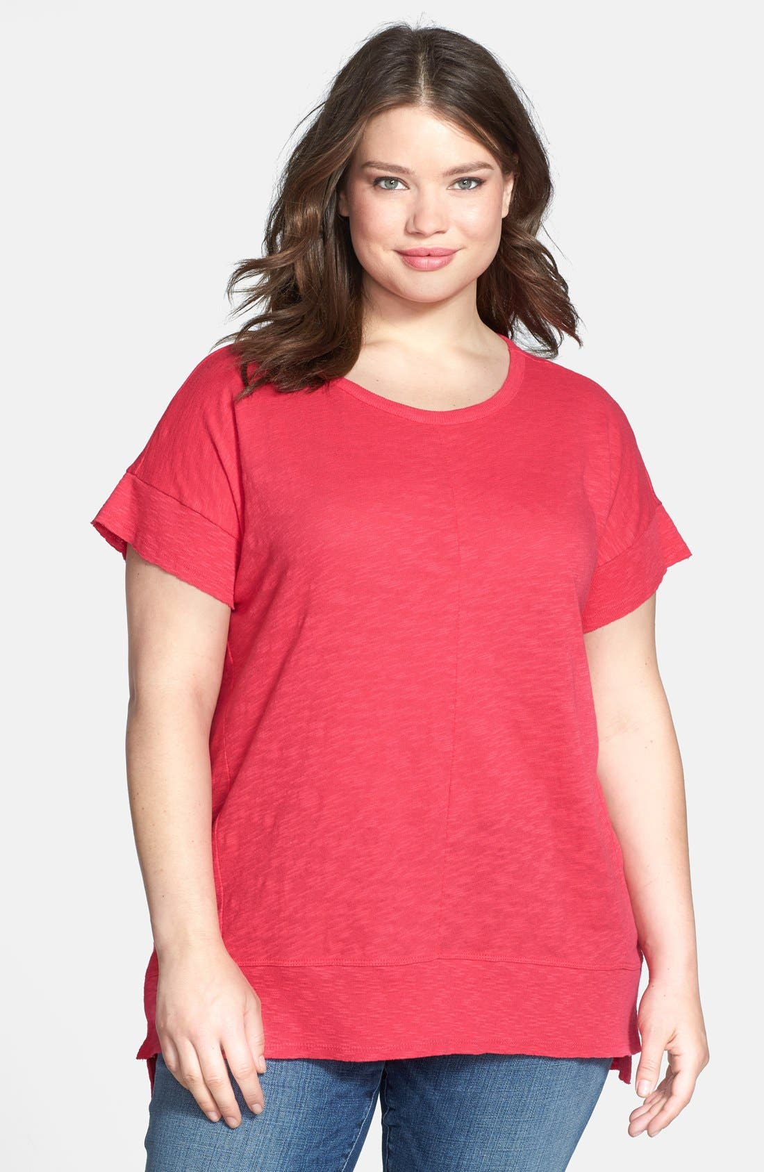 Alternate Image 1 Selected - DKNY Jeans 'East West Slouchy Summer' Knit Top (Plus Size)