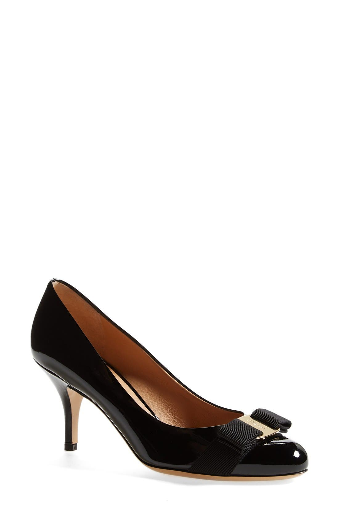 Main Image - Salvatore Ferragamo 'Carla' Patent Leather Pump (Women)