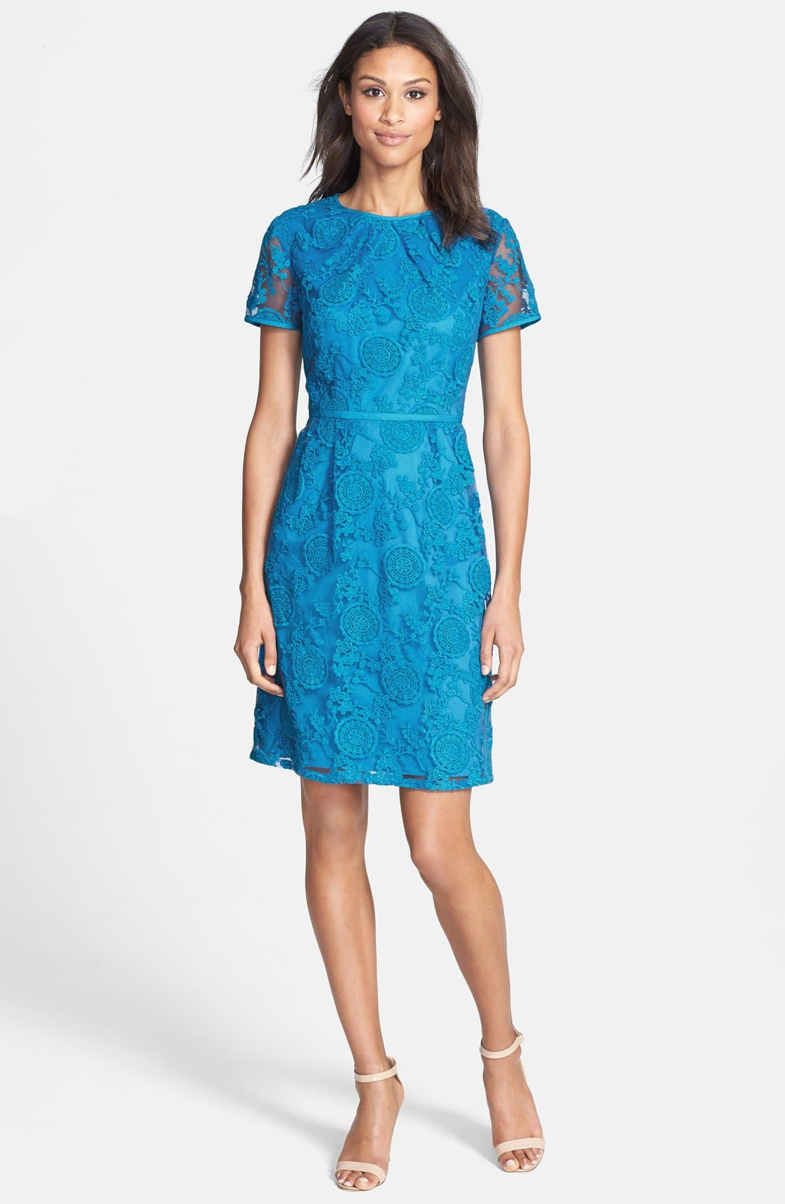Alternate Image 3  - Adrianna Papell Embroidered Lace Dress