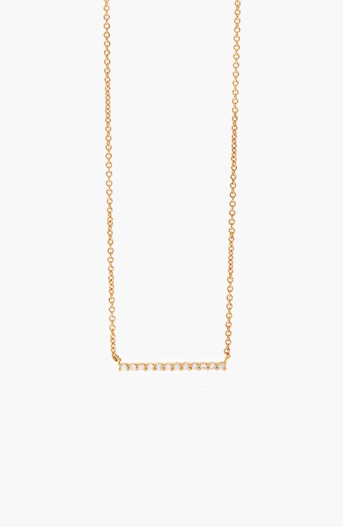 Main Image - gorjana 'Knox' Pavé Bar Necklace