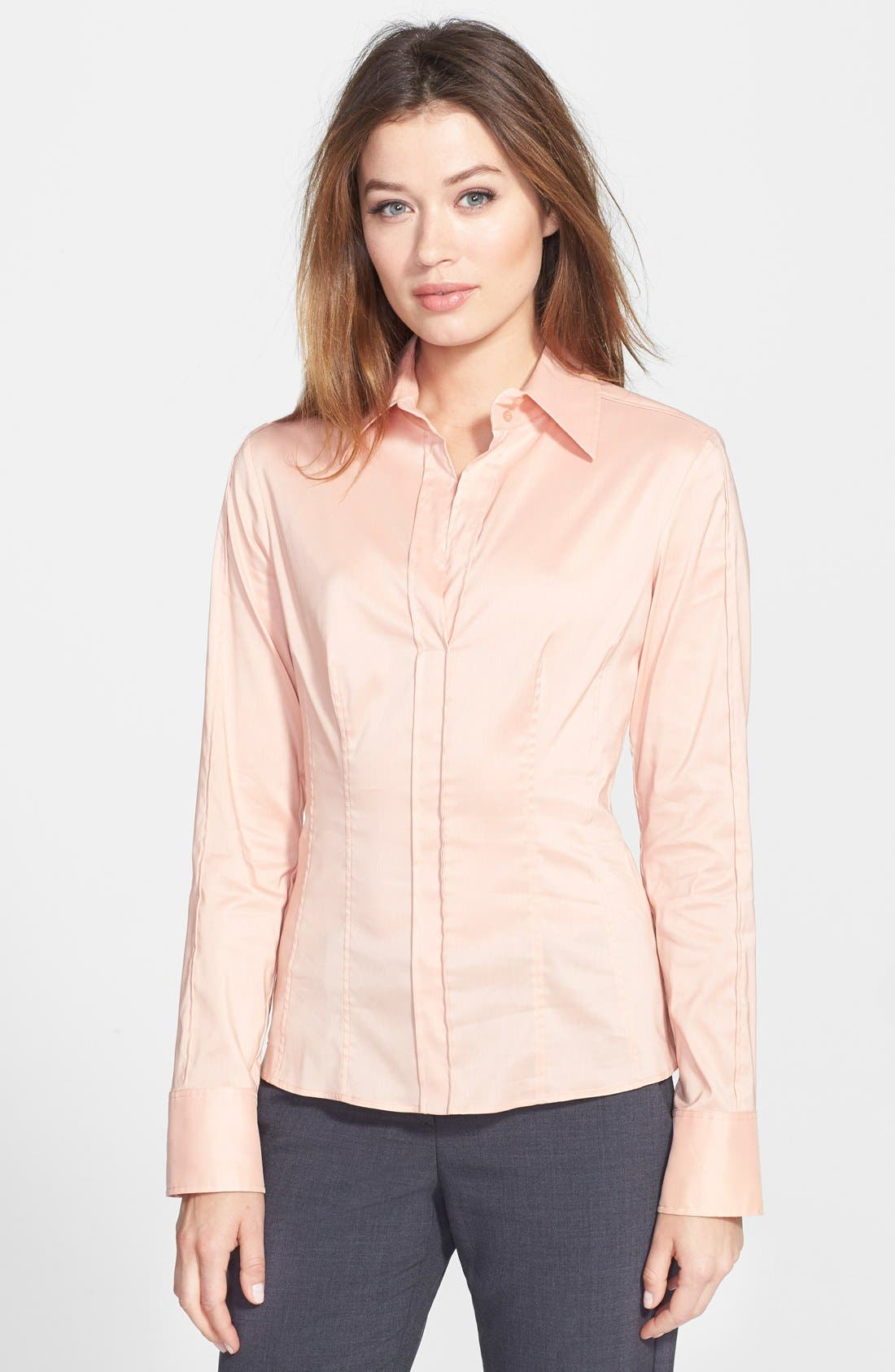 Alternate Image 1 Selected - BOSS 'Bashina4' Poplin Shirt