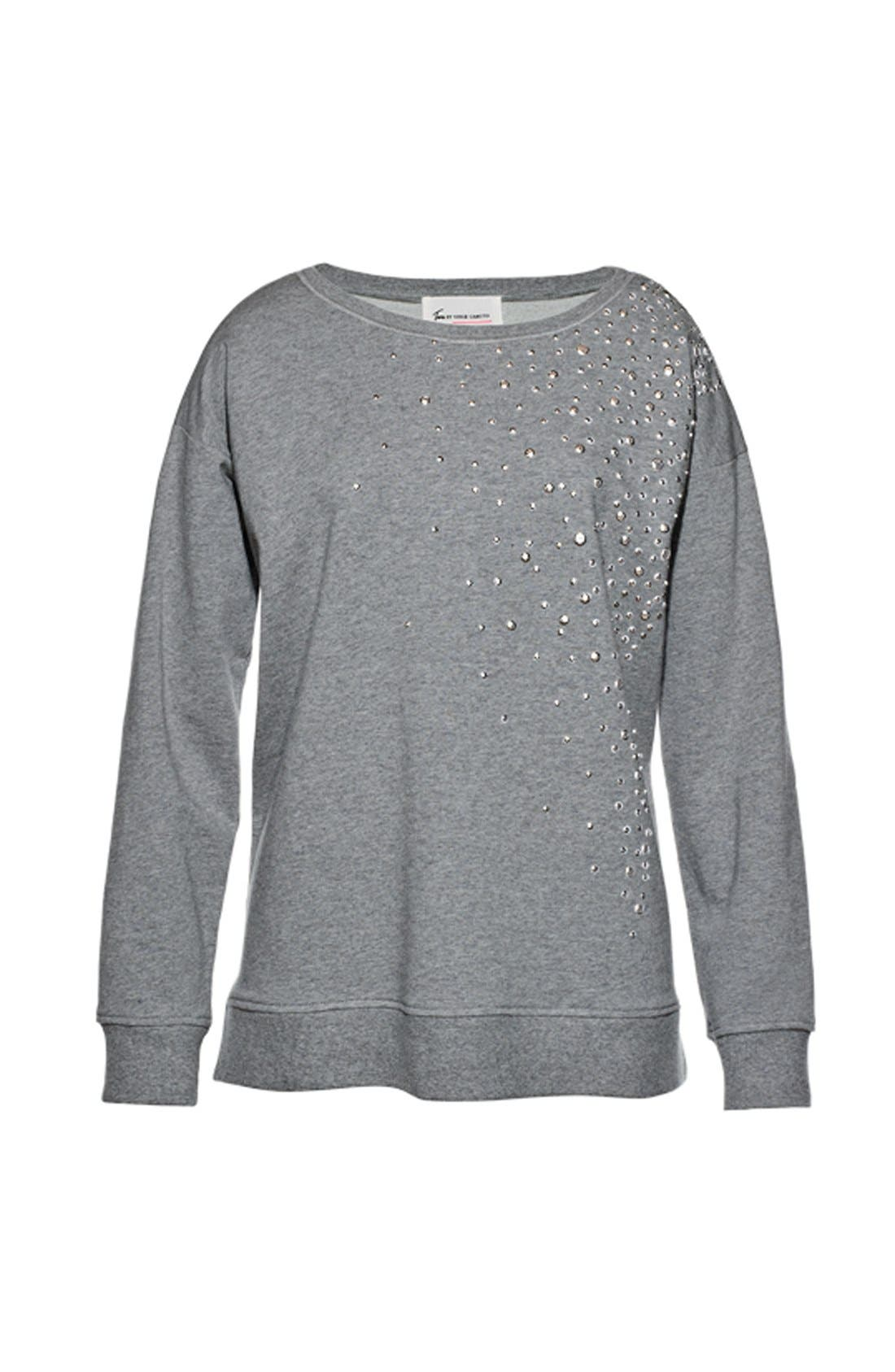 Alternate Image 4  - Two by Vince Camuto Embellished Sweatshirt